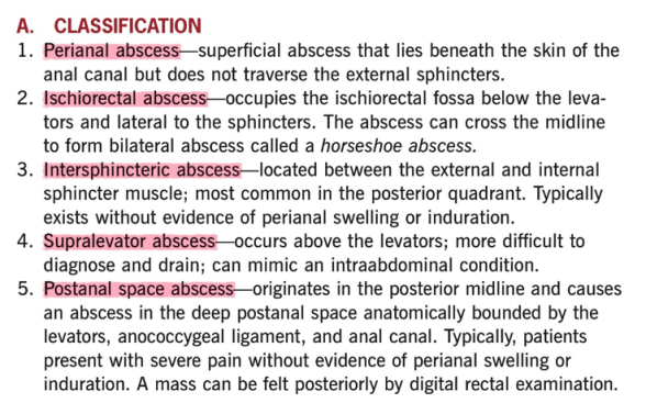 Anorectal abscess apprroach 2